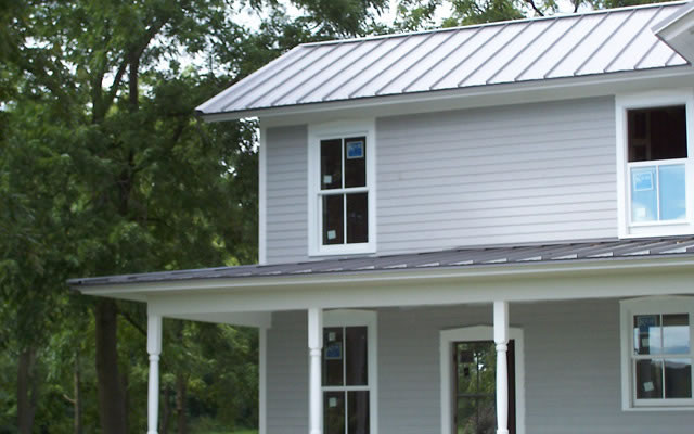 New Gray Metal Roofing On Rantoul, IL Home